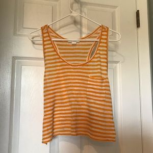 Forever 21 orange striped tank top